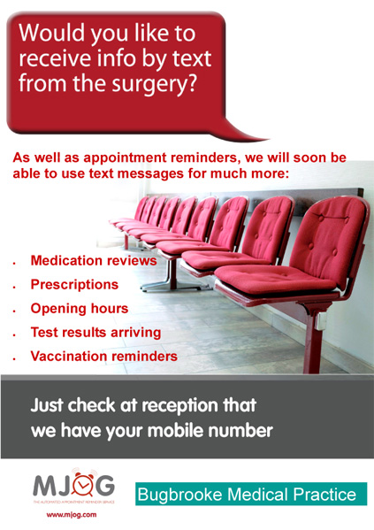 Would you like to receive info by text from the surgery?